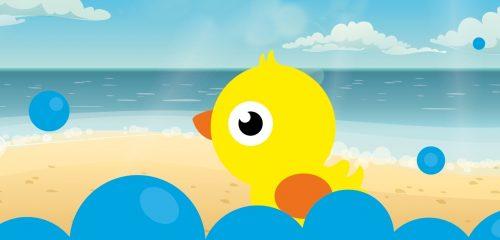 Strandfeestje tijdens Ouder- en kindzwemmen