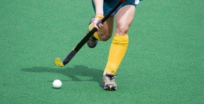Hockeystick hout (set van 2 met een bal)